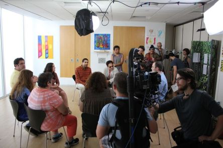Filming a Drama Therapy Scene led by Heidi Landis.jpg